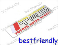 Wholesale 60pcs Aluminum Toyota motor Sports TRD Alloy D car logo Badge Emblem Sticker x40mm badges ZXC