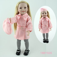 Wholesale New fashion quot American girl doll just like you brown eyes standing full vinyl smiling girl doll lifelike princess doll