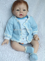 Unisex 8-11 Years Vinyl Wholesale-22 Inches Silicone Vinyl Reborn Babies Dolls Lovely Realistic Boneca Reborn Baby Toys For Girls
