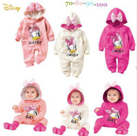 Girl bebe shipping - LOONGBOB baby infant romper baby girl spring autumn hoodies full sleeve cartoon donald duck romper bebe jumpsuits