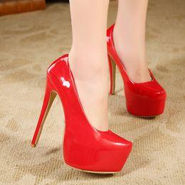 Wholesale-New Arrival 2015 Spring Summer Womens Fashion OL NightClub Platform High Heel Shoes Stiletto Pumps Large Size eur 41 42 43 44