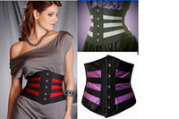 Firm Cotton,Polyester,Lycra,Spandex China (Mainland) Wholesale-On Sale Sexy Stripper Pole Waist cincher Multicolored Corsets and Bustiers Women Plus size Lengerie Bodice Tops Korsett Corpete