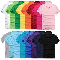 Men asia tees - Factory Price Classic Men Lapel POLO Shirt Short Sleeve Solid Hot Tee Asia M L XL XXL XL