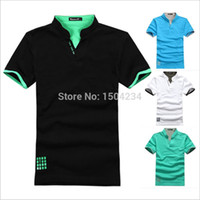 Wholesale NEW Sale Cotton Sport Mens Polo shirt Top Quality Man s Clothing Short Sleeve Mens Tops POLO Men Shirt XXXL plus size
