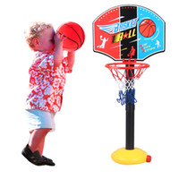 . Plastic Basketball/Basketball Stands Wholesale-New 2015 MO Practical Outdoor Children or Kids Toys Funny Toy Balls Kids Game Basketball Toy Set OM For Gift