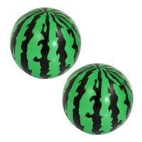 "Cheap Wholesale-Child Foam Squeeze Stress Sponge Green Black 2.3"" Dia Watermelons Ball Toy 2 Pcs Gift"