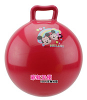 Wholesale High Quality PVC Classic Toys Balls Baby Inflatable Rubber Ball With Handle Size