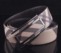 Wholesale High Quality Luxury Brand Style Plaid Genuine Leather Belt Men Women Women Designer Male Strap Christmas Female Accessories