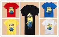 Wholesale New Baby Boys Cartoon Minions Short Sleeve Tshirt Kids Summer T shirt Kids Summer Clothing