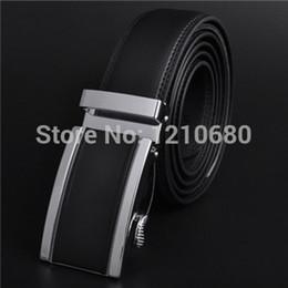 Wholesale-New 2015 Automatic Alloy Metal Buckle Brand Designer Belts Men Split Leather Hip Belt For Men Straps Male Wide Knife Belt Free