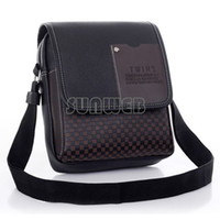 Wholesale New Arrival Fasion Mens Leather Crossbody Shoulder Messenger Bag Briefcase Colors Versions FreeShipping
