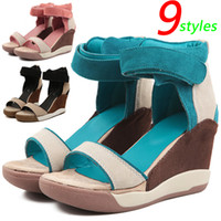 Chunky Heel ash sneaker heels - Summer ASH Sandals Fashion Wedges Sneakers Genuine Leather color Styles Height Increasing cm Size Women s Shoes