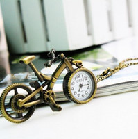 Casual bicycle items - items steampunk death note Quartz Antique Classical Copper Lovely Bicycle Pocket Watches Necklace mini miniature watch