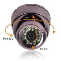 Wholesale 24 LED IR quot sony EFFIO TVL CCD Dome Color CCTV Camera Vandalfroof OSD mENU