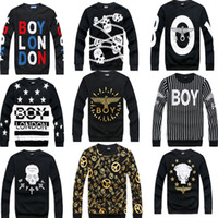 boy london - new hip hop casual Boy London hoodie crewneck fashion men brand sweatshirt cotton eagle couple models long sleeve T shirt