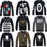 Men boy london - new hip hop casual Boy London hoodie crewneck fashion men brand sweatshirt cotton eagle couple models long sleeve T shirt
