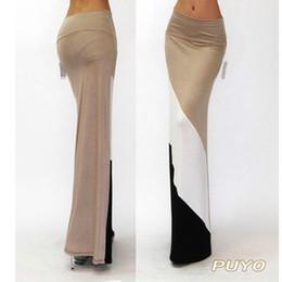 Wholesale-big discount Women Long Skirts New Summer Clothing Maxi Skirt Elastic High Waist Casual Spling Color Skirt SV003697#10