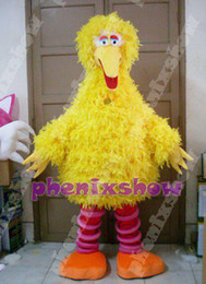 Wholesale Adult Size Yellow Big Bird Sesame Street Mascot Costume Fancy Dress Party Outfit