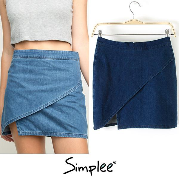 Denim Skirt Side Zipper Online | Denim Skirt Side Zipper for Sale