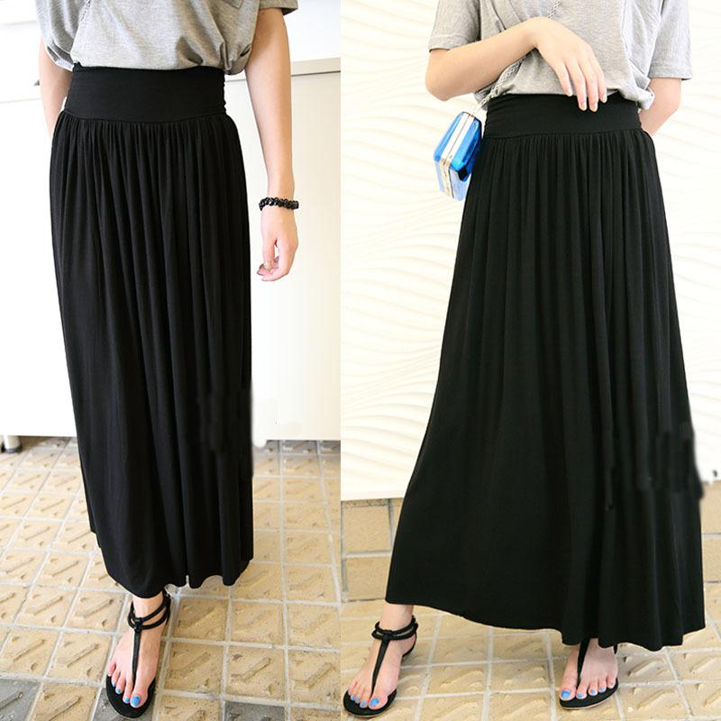 Full Length Black Skirt - Dress Ala