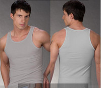 Men lycra t shirt - Cotton Lycra Men s vests sport gym vest T shirt Shirt
