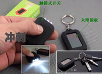 Wholesale 5pcs Led Mini Solar Powerful Flash Light Keychain Solar Flashlight LED torch Light