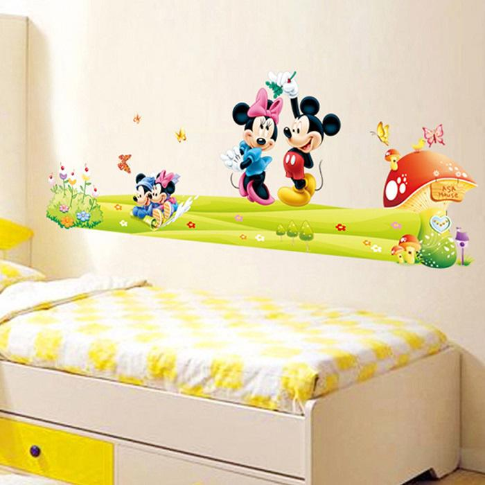 Removable Pvc Large Cartoon Mickey Mouse Wall Sticker Minnie Mouse