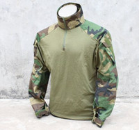 Casual Shirts Cotton,Polyester Mandarin Collar Wholesale-G3 Combat Shirt outdoor leisure shirt (Woodland) TMC1819-WL men shirt free shipping