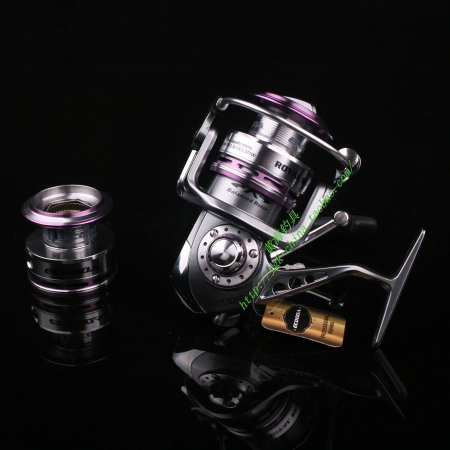 Wholesale-free shipping 2015 new Ecooda pure metal fishing reel ERS1500 ERS2000 ERS2500 ERS3000 with spare spool free shipping