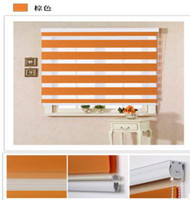 Wholesale Included Curtains New Arrival Thickening Roller Shutter Double Layer Shade Blinds The Finished Curtain Zebra