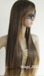 Wholesale Romantic brown long women s wig women s Long straight and wave wig wigs mix order