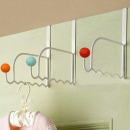 Wholesale A single Mu Dan Zhu door hanger rack cute iron rack door clothes hook