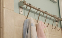 Wholesale x S Hooks Hanging Hangers Storage Holder Stainless Steel Kitchen Pot Pan Tool Clothes