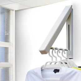 Wholesale stainless steel retractable clothes racks indoor balcony bathroom hangers HR453
