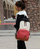backpack cost - Casual Canvas Backpack Splice Colorful women backpack Cost effective mochila feminina