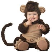 baby monkey halloween costume - Lil Monkey Infant Toddler Halloween costume Baby Romper jumpsuit Animal cosplay onesie suit