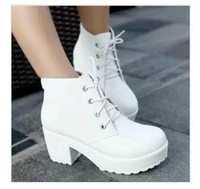 Women ballet boots platforms - New woman s shoe Locomotive boots Martin boots platform shoes Women Chunky Heel Ankle Knight short Boots