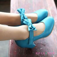Ballet Flats lolita shoes - Size women s lolita princess bow thick heel pumps cosplay shoes lourie shoes