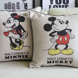 Wholesale Retro Mickey Mouse Cushion Mickey and Minnie Cartoon cushion Pillow for Car Home Decor Sofa cushions cm