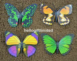 Wholesale quot Wingspan Artificial Butterfly Fridge Magnet Note Holder Home Office Scene Decor Christmas Business Gift