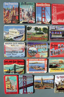 Wholesale Travel Viajes Home decoration fridge magnet iman de Nevera refrigerator sticker city Golden Gate Bridge map Z