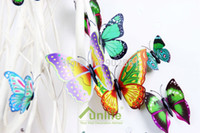 assorted magnets - Funlife Lovely Green Series Mix Assorted Vivid D Butterfly Fridge Magnet With Glue Tape as Free Bonus Free Ship fltb1353