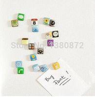 app fridge magnets - New Funny phone App Fridge Magnets Apps Icon Refrigerator Memo Magnet YO MO73