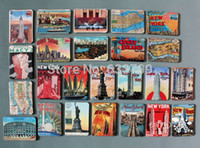 Multi-piece Package attraction magnet - America New York Attractions magnetic fridge magnets Cute Baby Fridge Magnet Refrigerator Magnets
