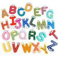 baby animal alphabet - set Fridge Wooden Magnet Baby Child Toy A Z ABC Educational Alphabet Letters Education learning souvenir fridge magnet