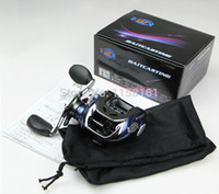 Wholesale Blue Black Low Profile Baitcasting BB left or right Fishing Reel Bait casting reel Hand Spinning lure Fishing Tackle