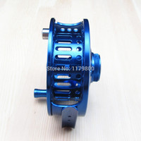 Wholesale CNC Machined Aluminum Fly Fishing Reel mm Left Right Handed Blue