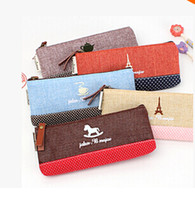 Cheap Casual lovely cosmetic Best Women Solid pencil case