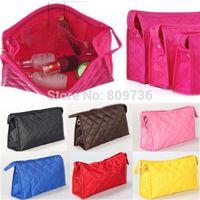 CA05069/sun 6 cm Solid Wholesale-Hot New Fashion Women Zipper Cosmetic Makeup Bag Handbag Purse Pouch Travel Pen Pencil Case 10 Colors Free Shipping