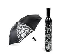 Wholesale Fashion Beautiful Umbrella Wine Bottle Umbrella Wine Umbrella Elegant Umbrellas Wedding Gift Mix Styles Best gift